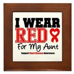 I Wear Red Aunt Framed Tile