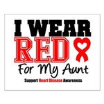 I Wear Red Aunt Small Poster