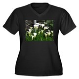 Botanical Women's Plus Size V-Neck Dark T-Shirt