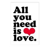 ALL YOU NEED IS LOVE! Postcards (Package of 8)