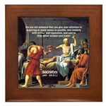 Truth and Wisdom: Socrates Framed Tile