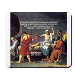 Truth and Wisdom: Socrates Mousepad 