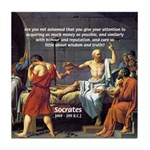 Truth and Wisdom: Socrates Tile Coaster