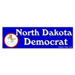North Dakota Democrat Bumper Sticker