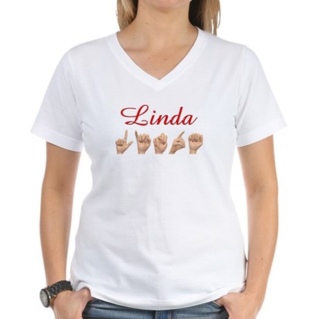 Linda Women's V-Neck T-Shirt