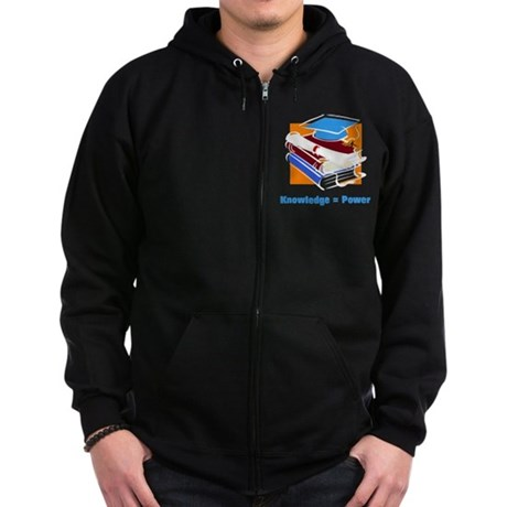 Knowledge is Power Zip Hoodie (dark)
