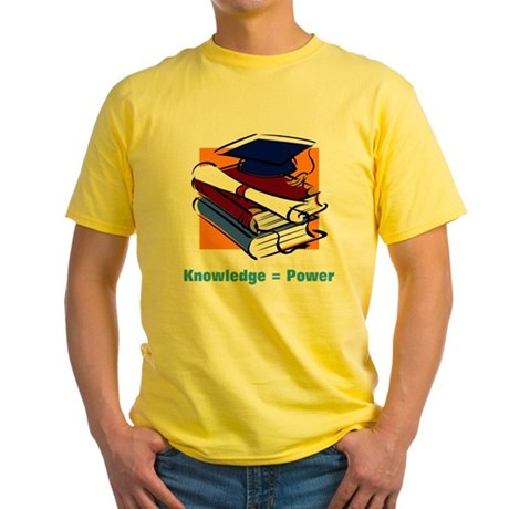 Knowledge is Power Yellow T-Shirt