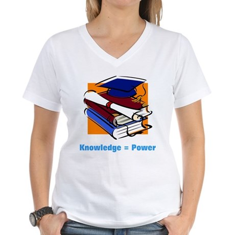 Knowledge is Power Women's V-Neck T-Shirt