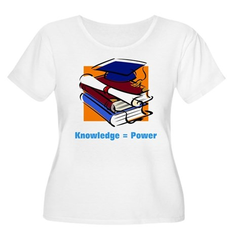 Knowledge is Power Women's Plus Size Scoop Neck T-