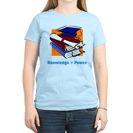 Knowledge is Power Women's Light T-Shirt