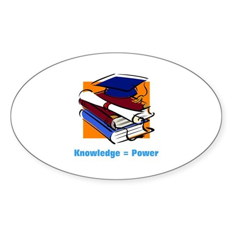 Knowledge is Power Oval Sticker (50 pk)