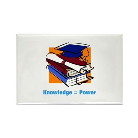 Knowledge is Power Rectangle Magnet (10 pack)