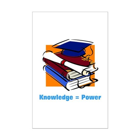 Knowledge is Power Mini Poster Print