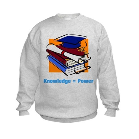 Knowledge is Power Kids Sweatshirt