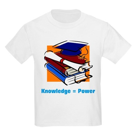 Knowledge is Power Kids Light T-Shirt