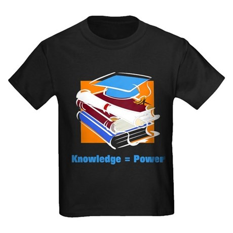 Knowledge is Power Kids Dark T-Shirt