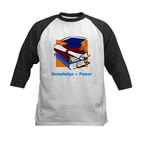 Knowledge is Power Kids Baseball Jersey