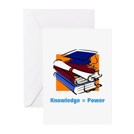 Knowledge is Power Greeting Cards (Pk of 20)