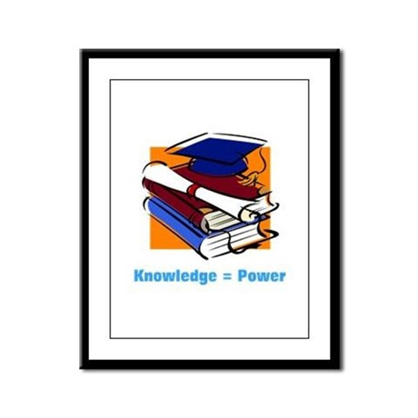 Knowledge is Power Framed Panel Print
