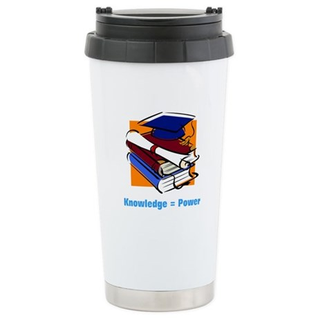 Knowledge is Power Ceramic Travel Mug
