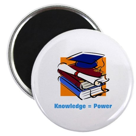"Knowledge is Power 2.25"" Magnet (100 pack)"