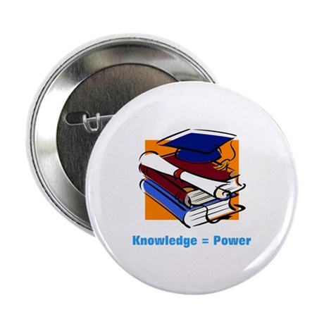 "Knowledge is Power 2.25"" Button (100 pack)"