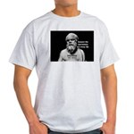 Socrates: Wisdom from Leisure Ash Grey T-Shirt