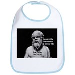 Socrates: Wisdom from Leisure Bib