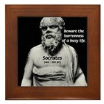 Socrates: Wisdom from Leisure Framed Tile