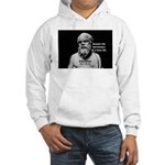 Socrates: Wisdom from Leisure Hooded Sweatshirt
