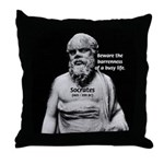 Socrates: Wisdom from Leisure Throw Pillow
