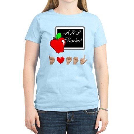 I Love ASL Female Women's Light T-Shirt