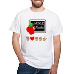 I Love ASL Male White T-Shirt