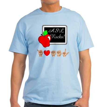 I Love ASL Male Light T-Shirt