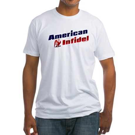 American Infidel (eagle) Fitted T-Shirt
