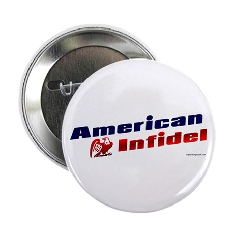 "American Infidel (eagle) 2.25"" Button (100 pack)"