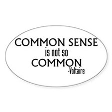 Common Sense Not So Common Oval Decal