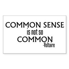 Common Sense Not So Common Rectangle Decal