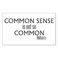 Common Sense Not So Common Rectangle Decal