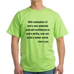 Dalai Lama 19 Green T-Shirt