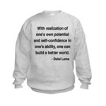 Dalai Lama 19 Kids Sweatshirt