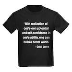 Dalai Lama 19 Kids Dark T-Shirt