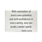 Dalai Lama 19 Rectangle Magnet