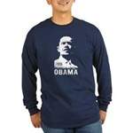 OBAMA 2008 - Stencil Long Sleeve Dark T-Shirt