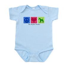 Peace Love Wire Fox Infant Bodysuit