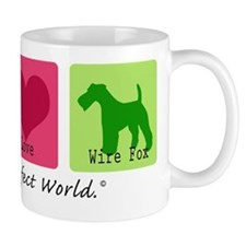 Peace Love Wire Fox Mug
