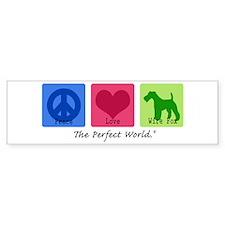 Peace Love Wire Fox Bumper Sticker (10 pk)