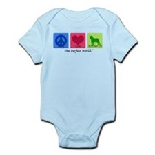 Peace Love Bullmastiff Infant Bodysuit