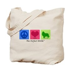 Peace Love Collie Tote Bag