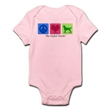 Peace Love Flat Coat Infant Bodysuit